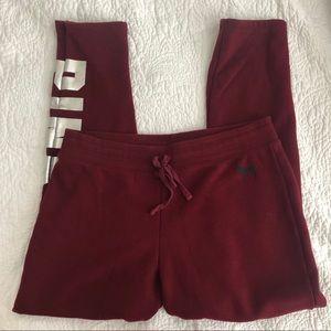 Pink maroon sweat pants